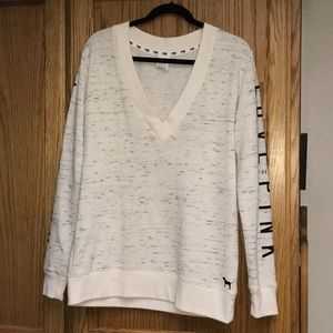 VS PINK plunge sweater